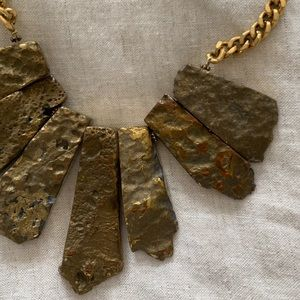 Anthro gold nugget necklace